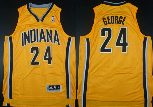 Indiana Pacers #24 Paul George Revolution 30 Authentic Yellow Jersey