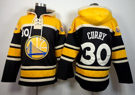 Golden State Warriors #30 Stephen Curry Black Hoodie