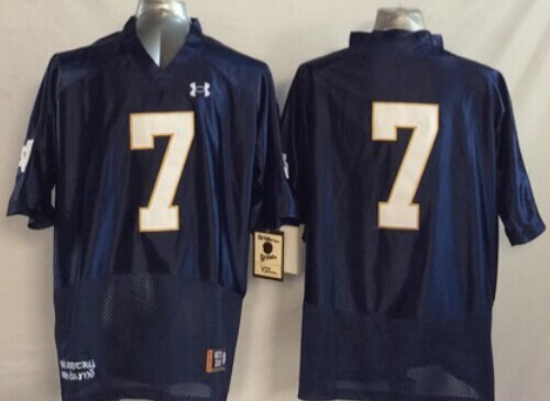 Notre Dame Fighting Irish #7 William Fuller 2014 Blue Jersey
