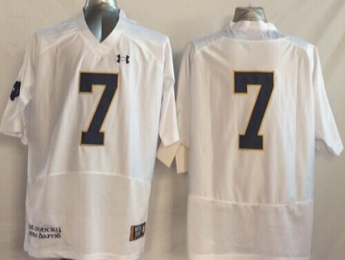 Notre Dame Fighting Irish #7 William Fuller 2014 White Jersey