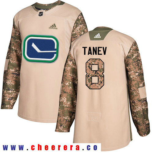 Adidas Canucks #8 Christopher Tanev Camo Authentic 2017 Veterans Day Stitched NHL Jersey