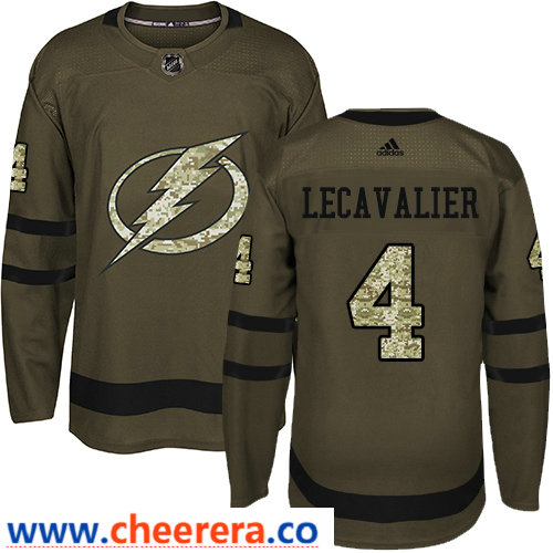 Adidas Men's Tampa Bay Lightning #4 Vincent Lecavalier Green Salute to Service Stitched NHL Jersey