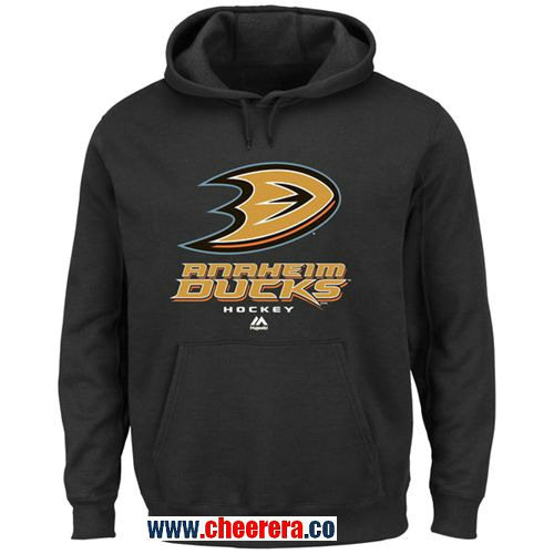 Anaheim Ducks Majestic Black Big & Tall Critical Victory Pullover Hoodie