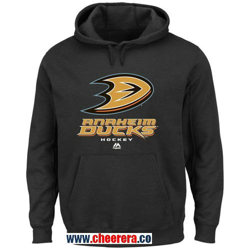 Anaheim Ducks Majestic Black Critical Victory VIII Pullover Hoodie
