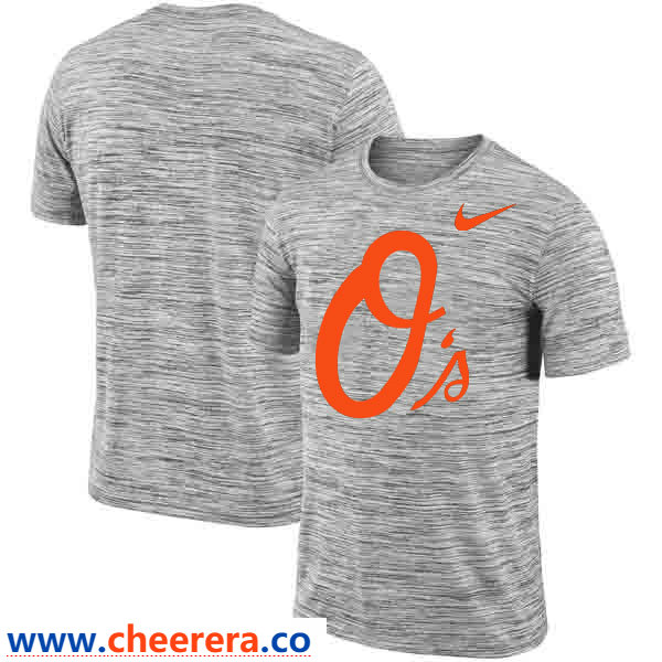 Baltimore Orioles Nike Heathered Black Sideline Legend Velocity Travel Performance T-Shirt