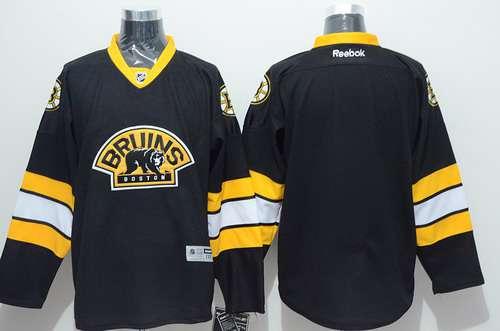 Boston Bruins Blank Black Third Jersey