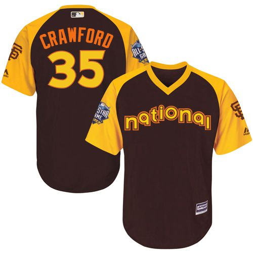 Brandon Crawford Brown 2016 MLB All-Star Jersey - Men's National League San Francisco Giants #35 Cool Base Game Collection
