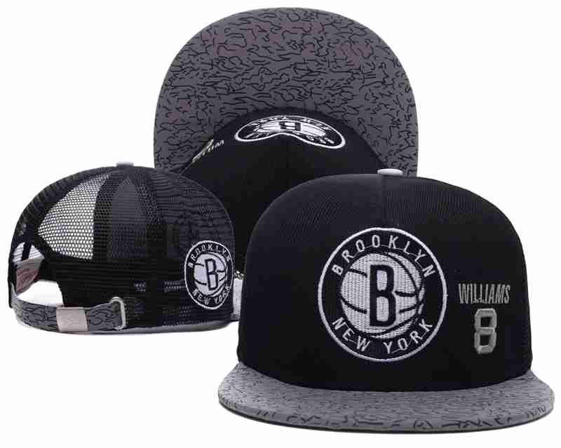 Brooklyn Nets Mesh Snapback Hat Black-TX4