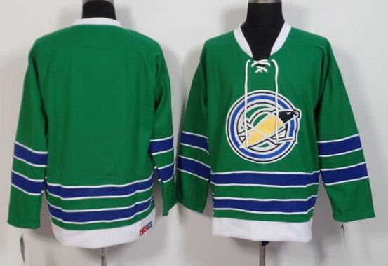 California Golden Seals Blank 1967-68 Green CCM Vintage Throwback Men's Jersey
