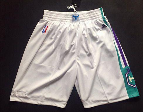 Charlotte Hornets White Swingman Men's Short