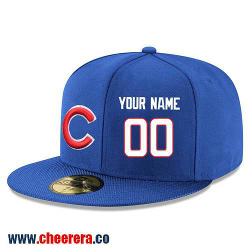 Chicago Cubs Custom Snapback Cap MLB Player Royal Blue with White Number Hat