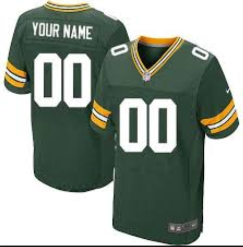 Customize Nike Elite NFL Green Bay Packers Green Jersey