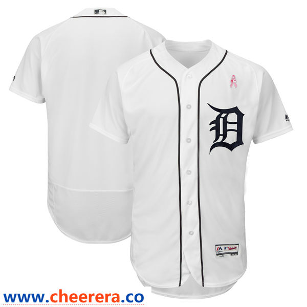 Detroit Tigers Blank Whites 2018 Mother's Day Flexbase Jersey