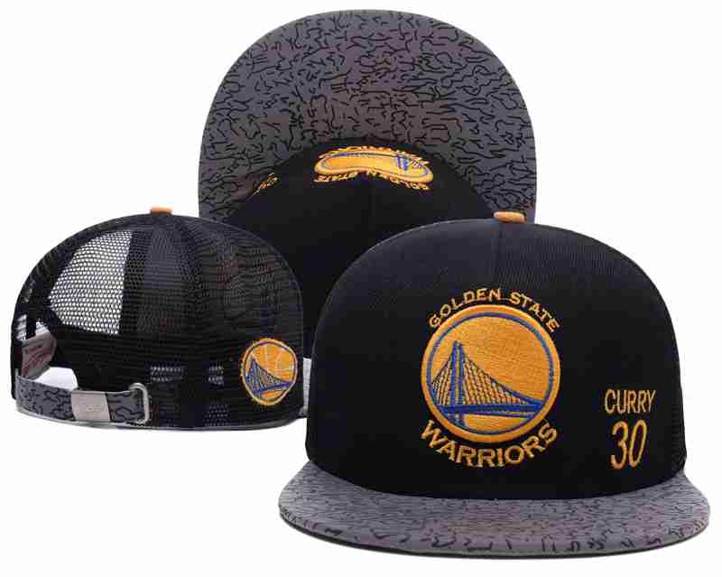 Golden State Warriors Mesh Snapback Hat Black-TX9