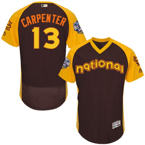 Matt Carpenter Brown 2016 All-Star Jersey - Men's National League St. Louis Cardinals #13 Flex Base Majestic MLB Collection Jersey