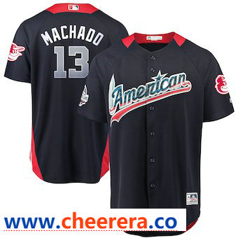 Men's American League #13 Manny Machado Majestic Navy 2018 MLB All-Star Game Home Run Derby Player Jersey