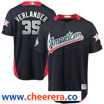 Men's American League #35 Justin Verlander Majestic Navy 2018 MLB All-Star Game Home Run Derby Player Jersey