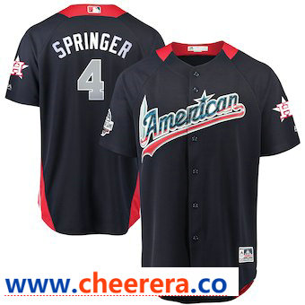 Men's American League #4 George Springer Majestic Navy 2018 MLB All-Star Game Home Run Derby Player Jersey
