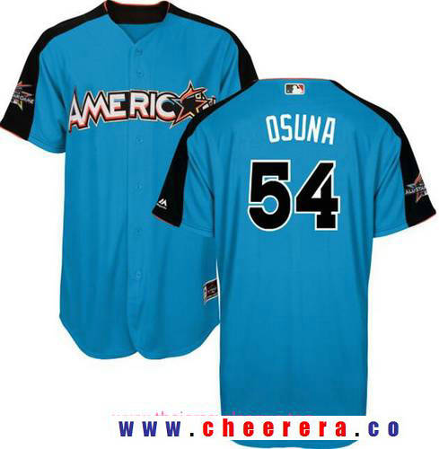 Men's American League Toronto Blue Jays #54 Roberto Osuna Majestic Blue 2017 MLB All-Star Game Authentic Home Run Derby Jersey