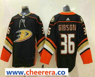 Men's Anaheim Ducks #36 John Gibson Black 2017-2018 Hockey Stitched NHL Jersey