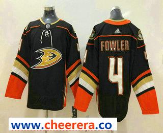 Men's Anaheim Ducks #4 Cam Fowler Black 2017-2018 Hockey Stitched NHL Jersey
