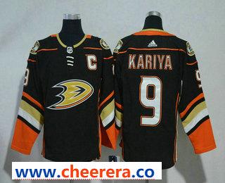 Men's Anaheim Ducks #9 Paul Kariya Black 2017-2018 Hockey Stitched NHL Jersey