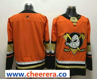 Men's Anaheim Ducks #9 Paul Kariya Orange 2017-2018 Hockey Stitched NHL Jersey
