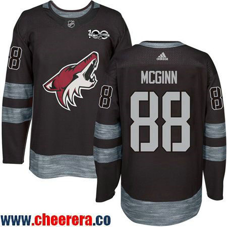 Men's Arizona Coyotes #88 Jamie McGinn Black 100th Anniversary Stitched NHL 2017 adidas Hockey Jersey