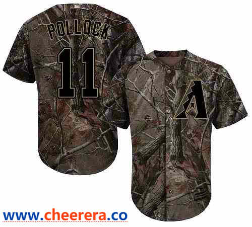 Men's Arizona Diamondbacks #11 A. J. Pollock Camo Realtree Collection Cool Base Stitched MLB Jersey