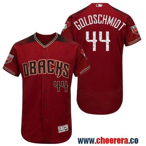Men's Arizona Diamondbacks #44 Paul Goldschmidt Crimson 2018 Spring Training Flex Base Jersey
