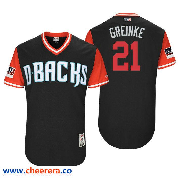 Men's Arizona Diamondbacks Authentic Zack Greinke #21 Black 2018 LLWS Players Weekend Greinke Jersey