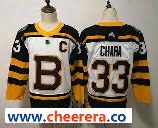 Men's Boston Bruins #33 Zdeno Chara White 2019 Winter Classic Adidas Stitched NHL Jersey