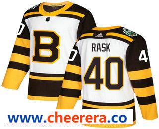 Men's Boston Bruins #40 Tuukka Rask White 2019 Winter Classic Adidas Stitched NHL Jersey