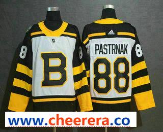 Men's Boston Bruins #88 David Pastrnak White 2019 Winter Classic Adidas Stitched NHL Jersey