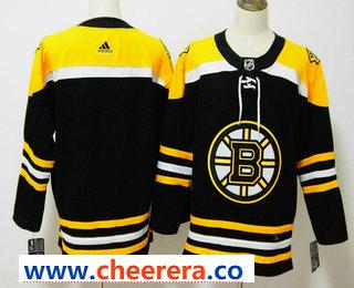 Men's Boston Bruins Blank Black 2017-2018 Hockey Stitched NHL Jersey