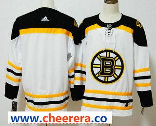Men's Boston Bruins Blank White 2017-2018 Hockey Stitched NHL Jersey