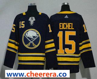 Men's Buffalo Sabres #15 Jack Eichel Navy Blue 2017-2018 Hockey Stitched NHL Jersey