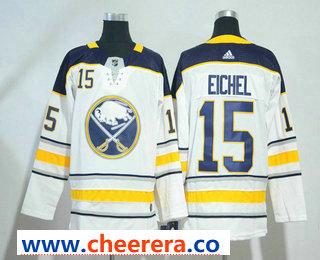 Men's Buffalo Sabres #15 Jack Eichel White 2017-2018 Hockey Stitched NHL Jersey