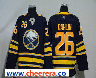 Men's Buffalo Sabres #26 Rasmus Dahlin Navy Blue Home Stitched NHL Jersey