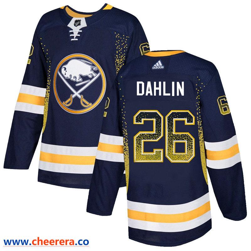 Men's Buffalo Sabres #26 Rasmus Dahlin Navy Drift Fashion Adidas Jersey