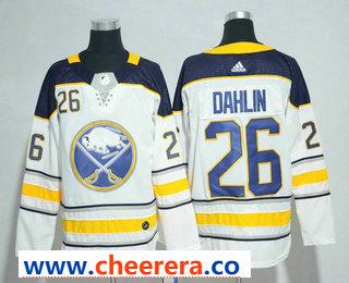 Men's Buffalo Sabres #26 Rasmus Dahlin White Away Stitched NHL Jersey
