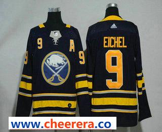 Men's Buffalo Sabres #9 Jack Eichel Navy Blue Home Stitched NHL Jersey