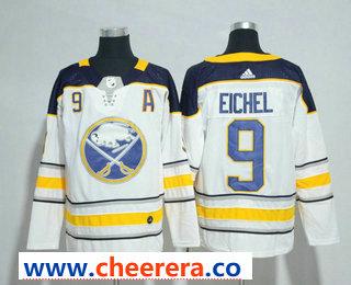 Men's Buffalo Sabres #9 Jack Eichel White Away Stitched NHL Jersey