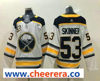 Men's Buffalo Sabres #9 Jeff Skinner White Drift Fashion Adidas Stitched NHL Jersey