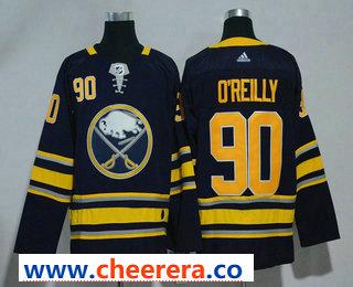 Men's Buffalo Sabres #90 Ryan O'Reilly Navy Blue 2017-2018 Hockey Stitched NHL Jersey