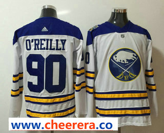 Men's Buffalo Sabres #90 Ryan O'Reilly White 2017-2018 Hockey Stitched NHL Jersey