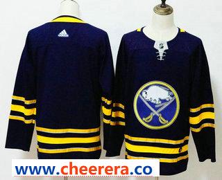 Men's Buffalo Sabres Blank Navy Blue 2017-2018 Hockey Stitched NHL Jersey