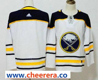 Men's Buffalo Sabres Blank White 2017-2018 Hockey Stitched NHL Jersey