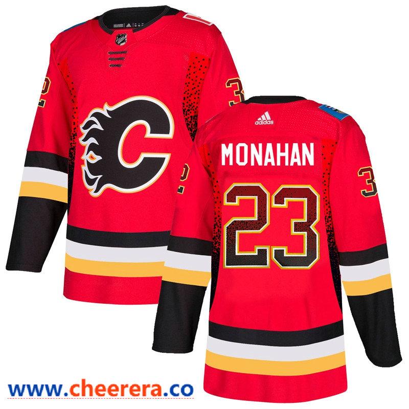 Men's Calgary Flames #23 Sean Monahan Red Drift Fashion Adidas Jersey
