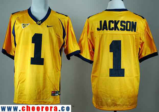 Men's California Golden Bears #1 DeSean Jackson Yellow Stitched College Football Nike NCAA Jersey
